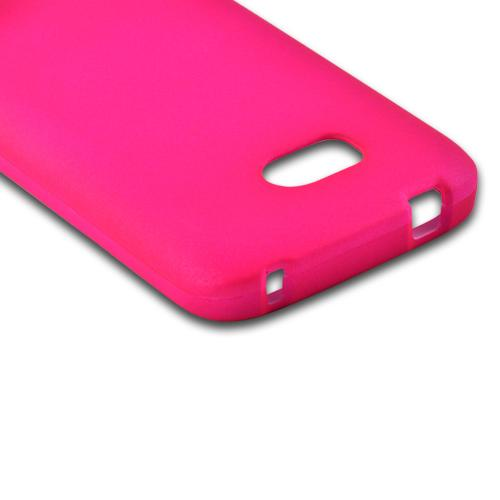 Hot Pink Rubberized Hard Case for Nokia Lumia 822