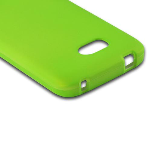 Neon Green Rubberized Hard Case for Nokia Lumia 822
