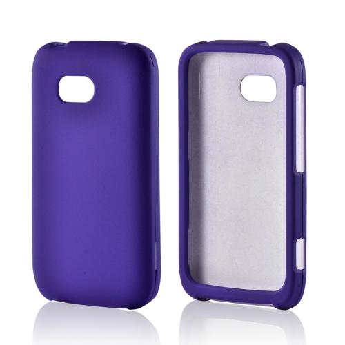Purple Rubberized Hard Case for Nokia Lumia 822