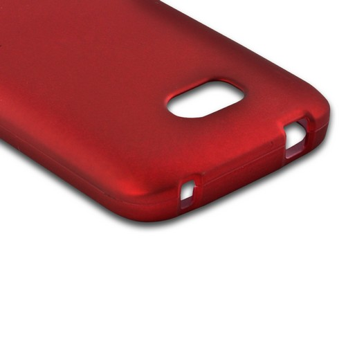Red Rubberized Hard Case for Nokia Lumia 822