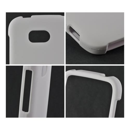 White Rubberized Hard Case for Nokia Lumia 822
