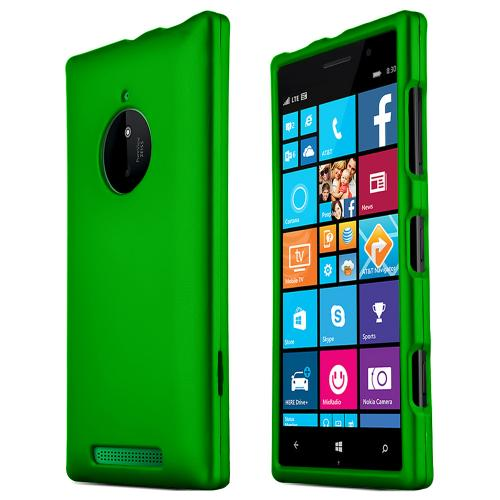 Nokia Lumia 830 Protective Rubberized Hard Case - Anti-Slip Matte Rubber Material [Slim and Perfect Fitting Nokia Lumia 830 (2014) Case] [Green]