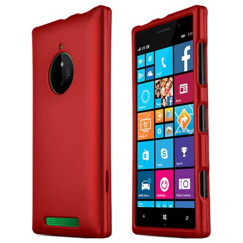 Nokia Lumia 830 Protective Rubberized Hard Case - Anti-Slip Matte Rubber Material [Slim and Perfect Fitting Nokia Lumia 830 (2014) Case] [Red]