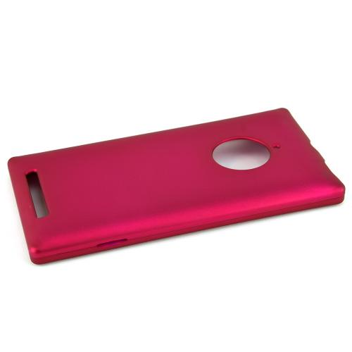 Nokia Lumia 830 Protective Rubberized Hard Case - Anti-Slip Matte Rubber Material [Slim and Perfect Fitting Nokia Lumia 830 (2014) Case] [Rose Pink]