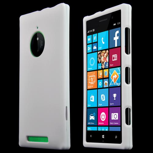 Nokia Lumia 830 Protective Rubberized Hard Case - Anti-Slip Matte Rubber Material [Slim and Perfect Fitting Nokia Lumia 830 (2014) Case] [White]