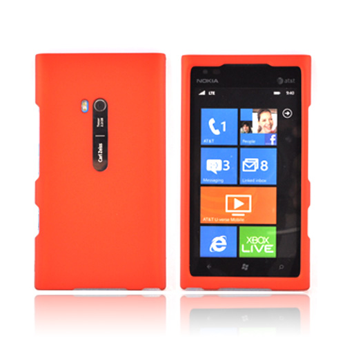Nokia Lumia 900 Rubberized Hard Case - Orange