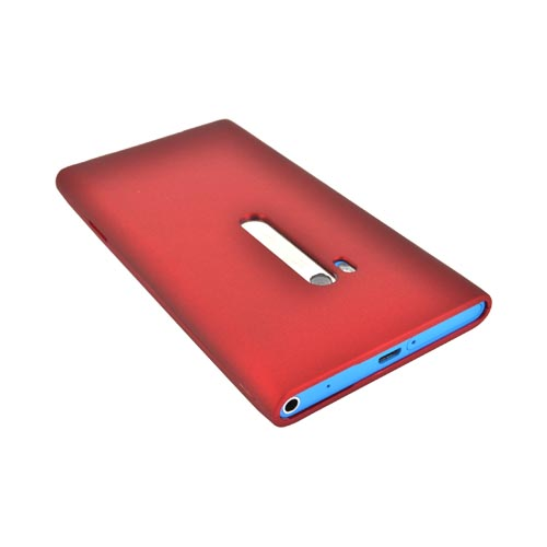 Nokia Lumia 900 Rubberized Hard Case - Red