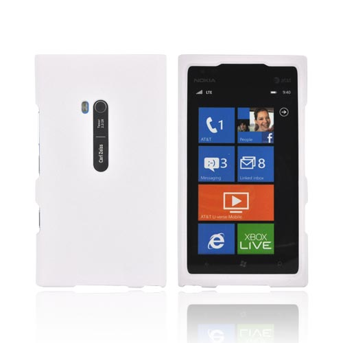 Nokia Lumia 900 Rubberized Hard Case - White