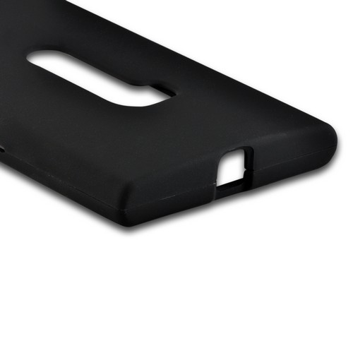 Black Rubberized Hard Case for Nokia Lumia 920