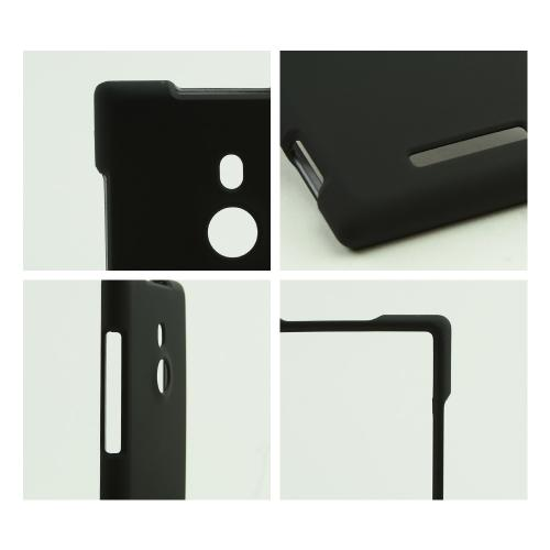 Black Rubberized Hard Case for Nokia Lumia 925
