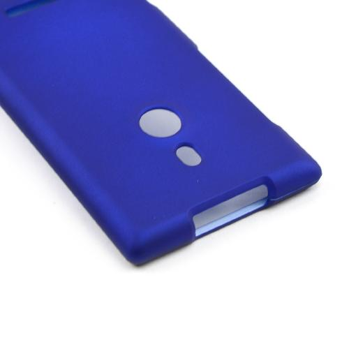 Blue Rubberized Hard Case for Nokia Lumia 925