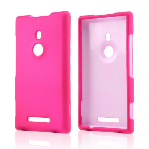 Hot Pink Rubberized Hard Case for Nokia Lumia 925