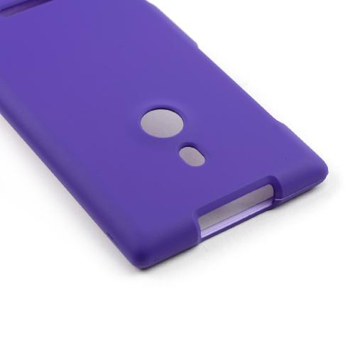 Purple Rubberized Hard Case for Nokia Lumia 925