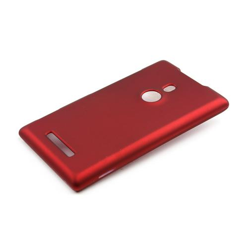 Red Rubberized Hard Case for Nokia Lumia 925