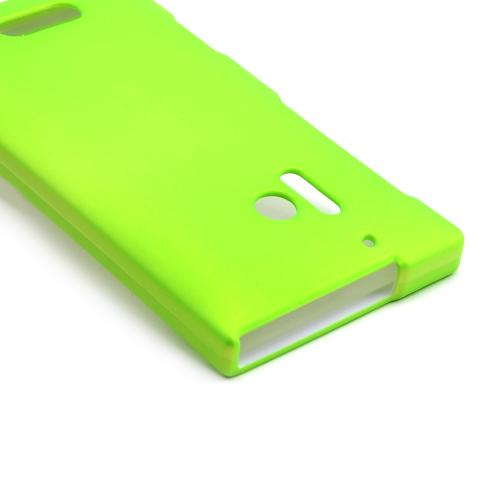 Neon Green Rubberized Hard Case for Nokia Lumia 928
