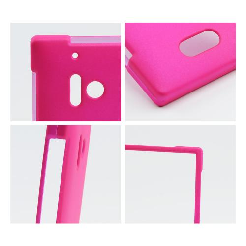 Hot Pink Rubberized Hard Case for Nokia Lumia 928