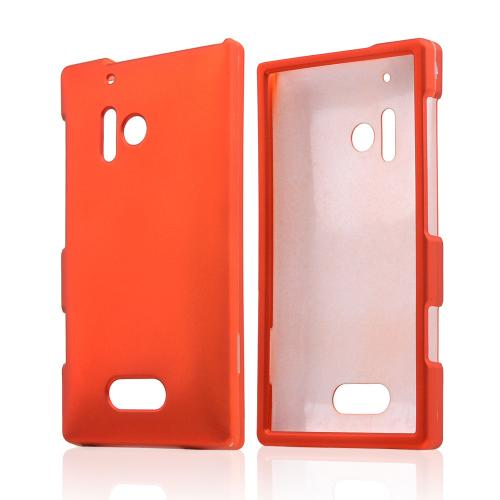 Orange Rubberized Hard Case for Nokia Lumia 928