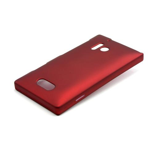 Red Rubberized Hard Case for Nokia Lumia 928