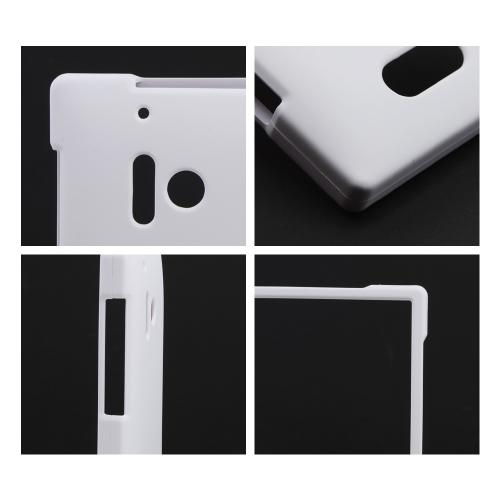 White Rubberized Hard Case for Nokia Lumia 928