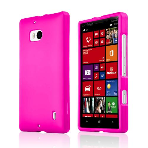 Hot Pink Rubberized Hard Plastic Case for Nokia Lumia Icon