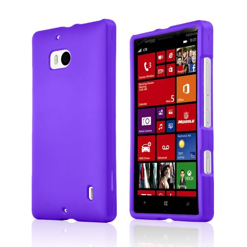 Purple Rubberized Hard Plastic Case for Nokia Lumia Icon