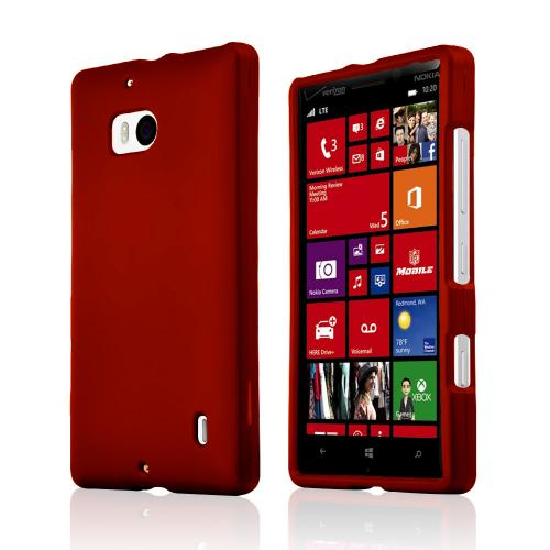 Red Rubberized Hard Plastic Case for Nokia Lumia Icon