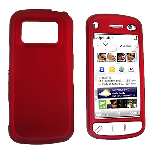 Nokia N97 Rubberized Hard Case - Red