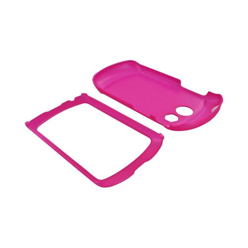 Pantech Swift Rubberized Hard Case - Hot Pink