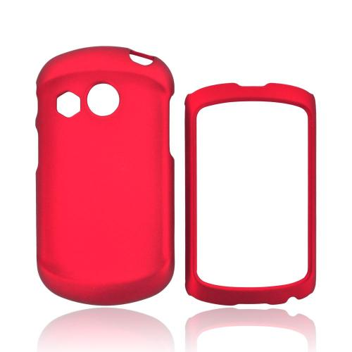 Pantech Swift Rubberized Hard Case - Red