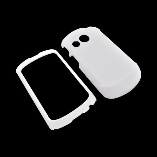 Pantech Swift Rubberized Hard Case - White