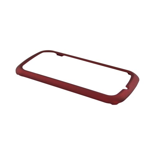 Pantech Laser P9050 Rubberized Hard Case - Red