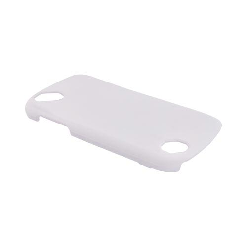 Pantech Laser P9050 Rubberized Hard Case - White
