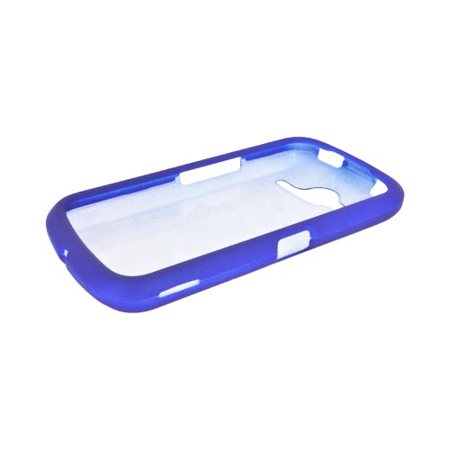 Pantech Burst 9070 Rubberized Hard Case - Blue