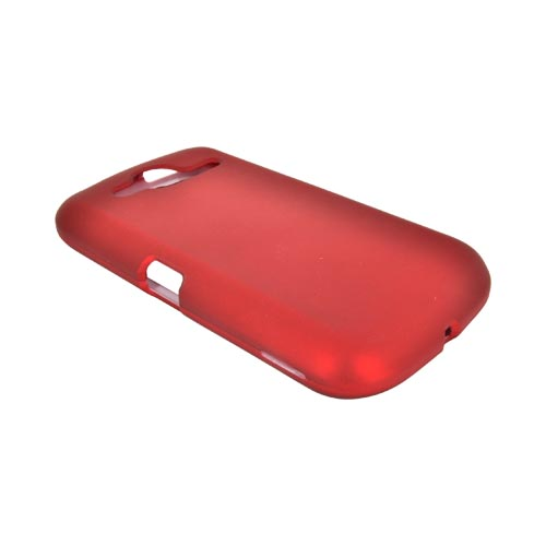 Pantech Burst 9070 Rubberized Hard Case - Red