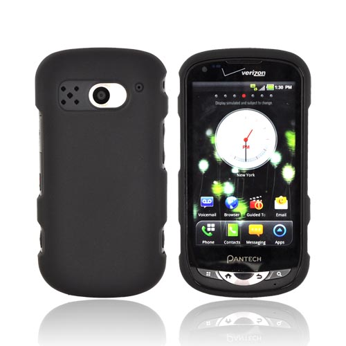 Pantech Breakout Rubberized Hard Case - Black