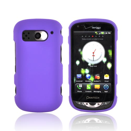Pantech Breakout Rubberized Hard Case - Purple