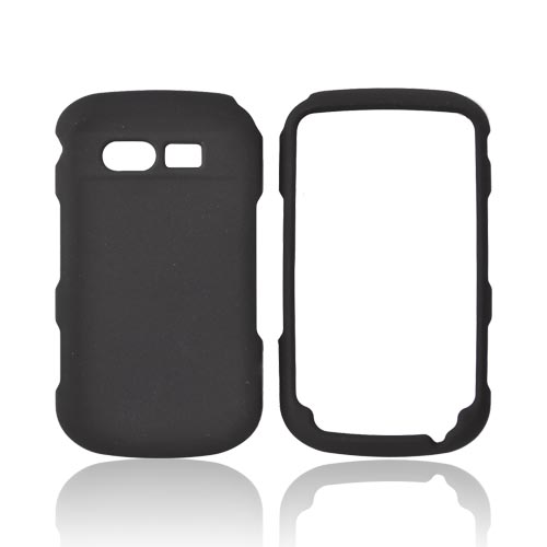 Pantech Caper Rubberized Hard Case - Black
