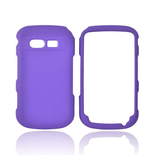Pantech Caper Rubberized Hard Case - Purple