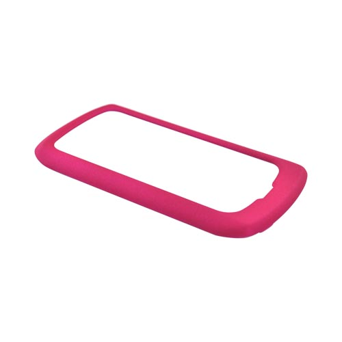 Pantech Crux 8999 Rubberized Hard Case - Hot Pink