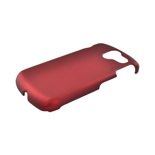 Pantech Crux Rubberized Hard Case - Red