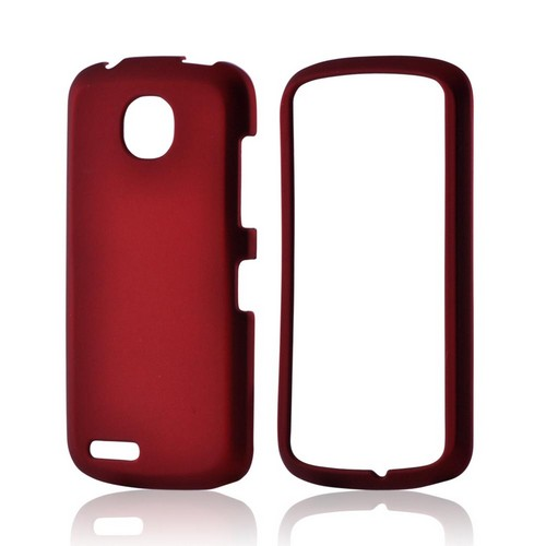 Red Rubberized Hard Case for Pantech Marauder