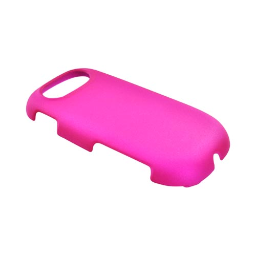 Pantech Ease P2020 Rubberized Hard Case - Hot Pink