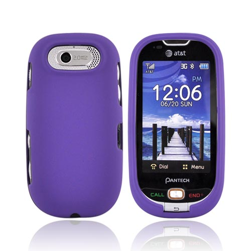 Pantech Ease P2020 Rubberized Hard Case - Purple
