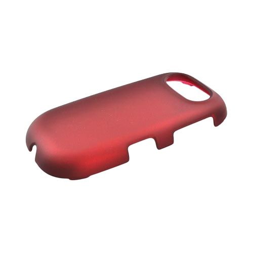 Pantech Ease P2020 Rubberized Hard Case - Red