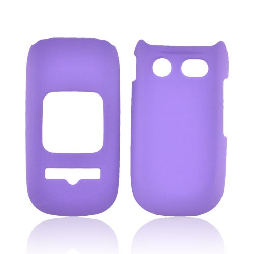 Pantech Breeze 3 Rubberized Hard Case - Purple