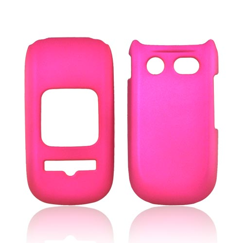 Pantech Breeze 3 Rubberized Hard Case - Rose Pink