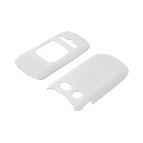 Pantech Breeze 3 Rubberized Hard Case - Solid White