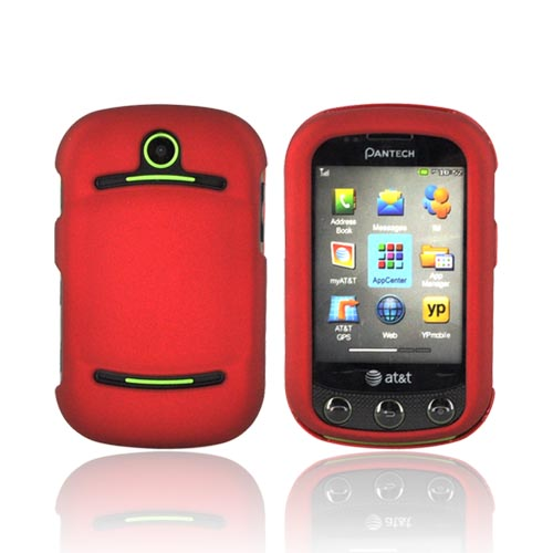 Pantech Pursuit 2 P6010 Rubberized Hard Case - Red