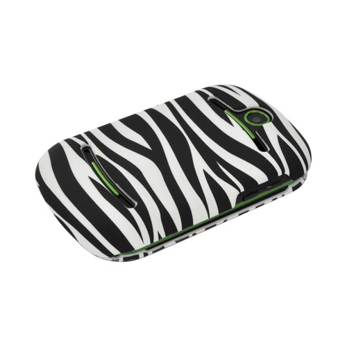 Pantech Pursuit 2 P6010 Rubberized Hard Case - Black/ White Zebra