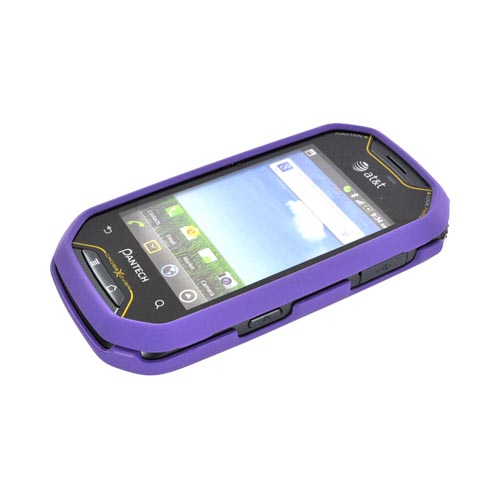 Pantech Crossover P8000 Rubberized Hard Case - Purple